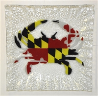 Maryland Flag Crab Small Square Plate
