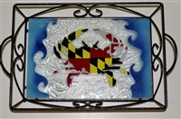 Maryland Flag Crab Small Tray (with Metal Holder)