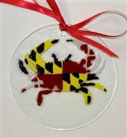 Maryland Flag Crab Suncatcher