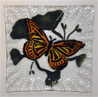 Monarch Butterfly Small Square Plate