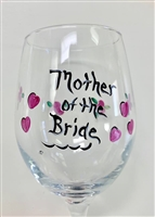 Mother of the Bride Red Wine Glass