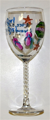 """Once a Jersey Girl, Always a Jersey Girl"" White Wine Glass"