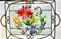 Orchid Large Tray (with Metal Holder)