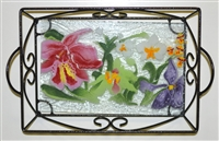 Orchid Small Tray (with Metal Holder)