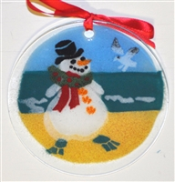 Original Beach Snowman Suncatcher
