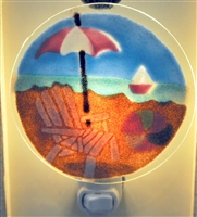 Pastel Beach Scene Nightlight