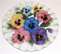 Pastel Pansy 10.75 inch Plate