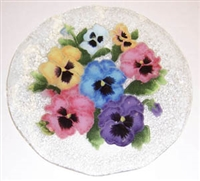 Pastel Pansy 12 inch Plate
