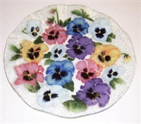 Pastel Pansy 14 inch Platter