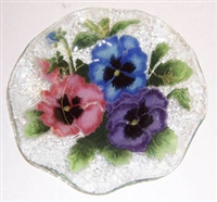Pastel Pansy 9 inch Bowl