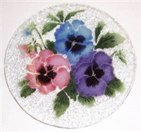 Pastel Pansy 9 inch Plate