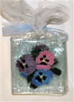 Pastel Pansy Coasters