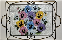 Pastel Pansy Large Tray (with Metal Holder)