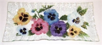 Pastel Pansy Rectangle Plate
