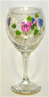 Pastel Pansy Red Wine Glass