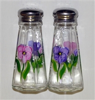 Pastel Pansy Salt and Pepper Shakers