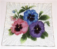 Pastel Pansy Small Square Plate