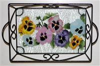 Pastel Pansy Small Tray (with Metal Holder)