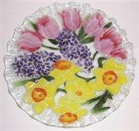 Pastel Spring Floral 10.75 inch Plate