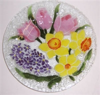 Pastel Spring Floral 9 inch Plate