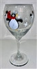 Penguin Red Wine Glass