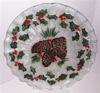 Pine Cone and Holly 10.75 inch Plate