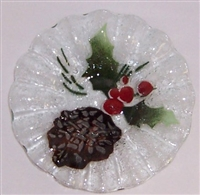 Pine Cone and Holly 7 inch Bowl