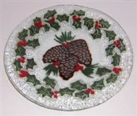 Pine Cone and Holly 9 inch Plate