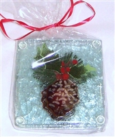 Pine Cone and Holly Coasters