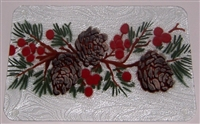 Pine Cone and Holly Small Tray (Insert Only)