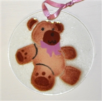 Pink Bear Suncatcher