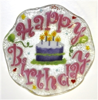 Pink Happy Birthday 9 inch Bowl
