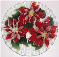 Poinsettia 10.75 inch Plate