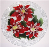 Poinsettia 12 inch Plate