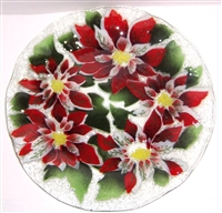 Poinsettia 14 inch Plate