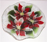 Poinsettia 9 inch Bowl