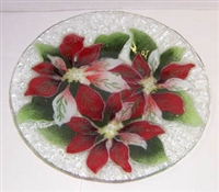 Poinsettia 9 inch Plate