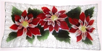 Poinsettia Rectangle Plate