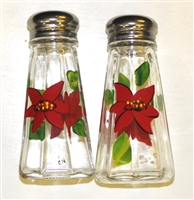 Poinsettia Salt and Pepper Shakers