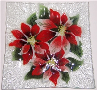 Poinsettia Small Square Plate