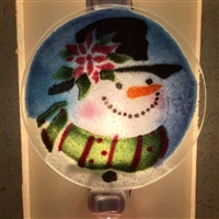 Poinsettia Snowman Nightlight