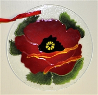 Poppy 7 inch Suncatcher