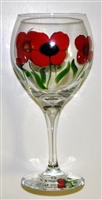 Poppy Red Wine Glass