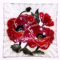 Poppy Small Square Plate