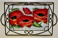 Poppy Small Tray (with Metal Holder)