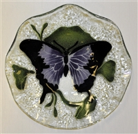 Purple Butterfly 9 inch Bowl