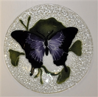 Purple Butterfly 9 inch Plate