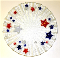 Red, White, and Blue Stars 10.75 inch Plate
