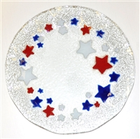 Red, White, and Blue Stars 12 inch Plate