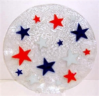 Red, White, and Blue Stars 14 inch Plate